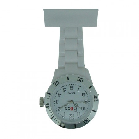 New BOXX White Plastic Nurse Fob Watch