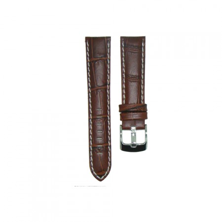 Genuine Leather Quality Brown Croc Grain Watch Strap 18/20/22/24mm