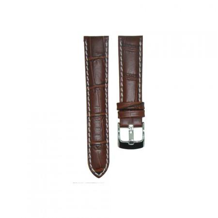 Genuine Leather Quality Brown Croc Grain Watch Strap 18/20/22/24mm