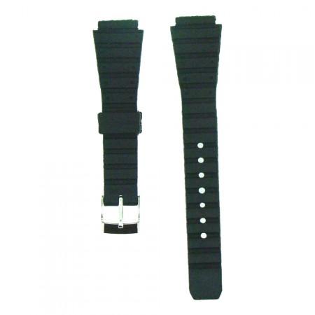 Lady 14mm Black Casio Type TA Sports Resin Watch Strap