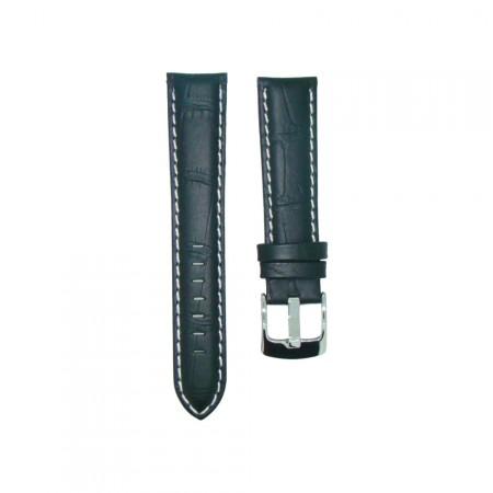 Genuine Leather Quality Black Croc Grain Watch Strap 18/20/22/24mm