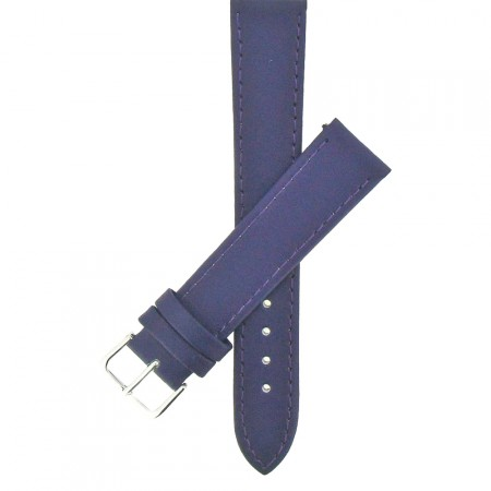 Purple Calf Grain Leather Watch Strap 10mm to 24mm With FREE Fitting Pins