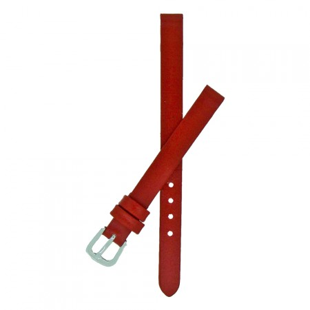Red Calf Grain Leather Watch Strap With FREE Fitting Pins 6mm and 8mm
