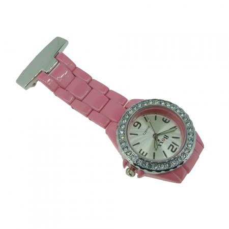 Brand New Pink Diamante Crystal Bezel Nurse Fob by BOXX