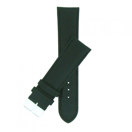 Extra Wide Black Padded Leather Watch Strap 20mm to 30mm  & FREE Fitting Pins