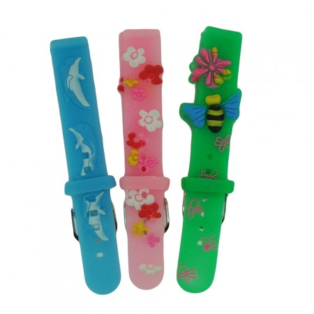Childrens TA 14mm Silicone 3D Colour Watch Strap