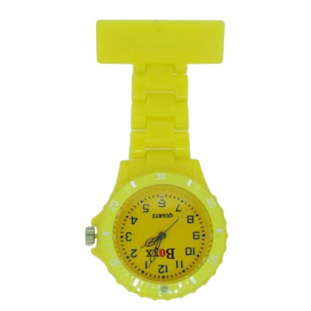 New BOXX Yellow Plastic Nurse Fob Watch