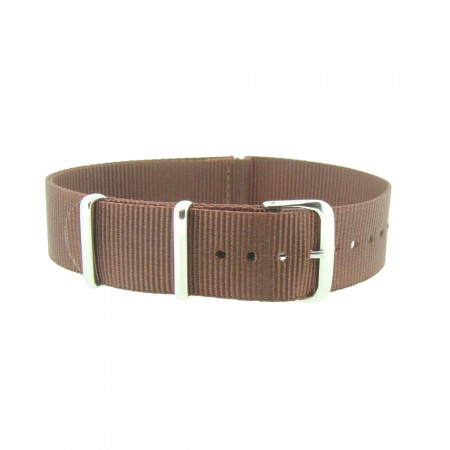 Brown Nylon 1pc Military Army Watch Strap 18mm 20mm 22mm