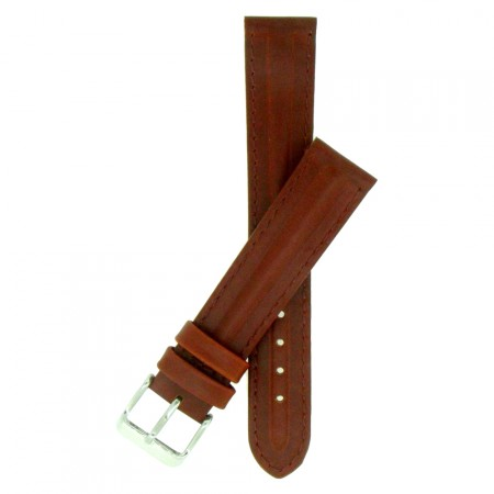 Genuine Brown Quality Leather Padded Watch Strap 18mm 20mm 22mm