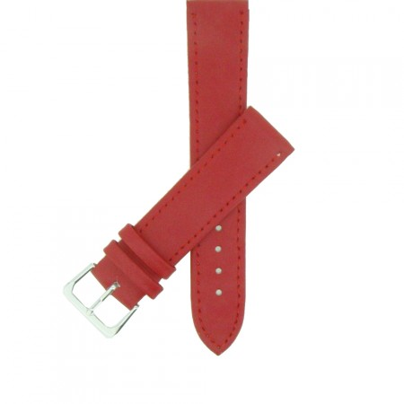 Red TA Extra Long Leather Watch Strap 12mm to 22mm With FREE Fitting Pins