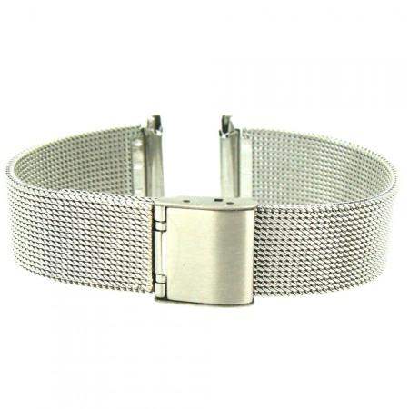 2 piece Mesh Design Stainless Steel  Metal Bracelet Watch Strap 16mm 18mm 20mm
