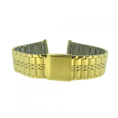 20mm Stainless Steel Gilt Metal Bracelet Watch Strap