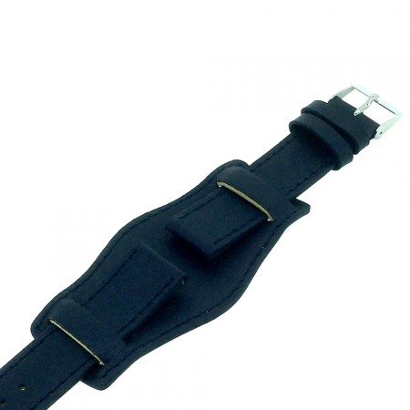 Genuine Leather Blue Colour Military Cuff Watch Strap 18mm 20mm 22mm and 24mm