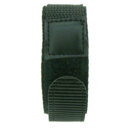 Black 18 / 20 / 22mm Band TA Nylon Canvas Watch Strap