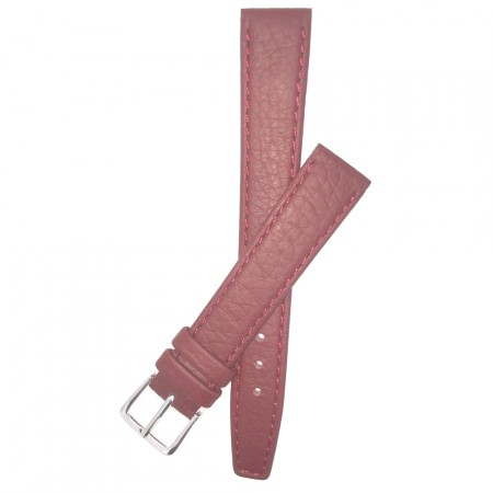 Burgundy Calf Grain Leather Watch Strap 10mm-20mm With FREE Fitting Pins