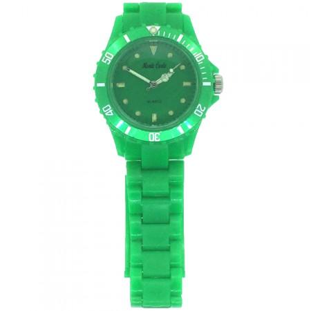 Green Plastic Lightweight Quartz Sports Watch by Monte Carlo