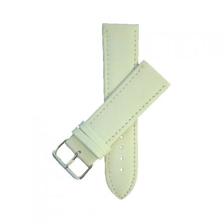 White TA Calf Grain Geniune Leather 24mm Watch Strap