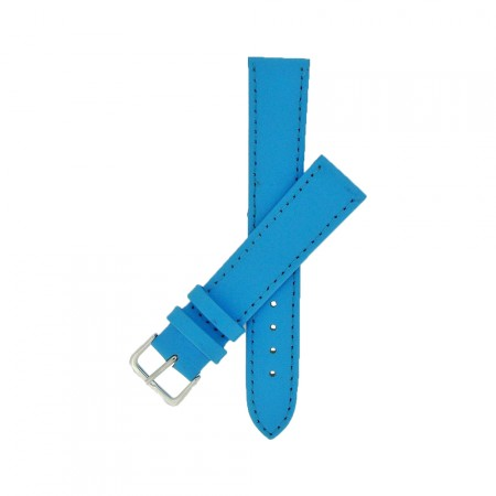 Sky Blue Calf Grain Leather Watch Strap 10mm to 24mm With FREE Fitting Pins
