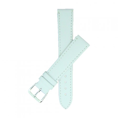 White TA Calf Grain Leather Watch Strap 10mm to 24mm With FREE Fitting Pins