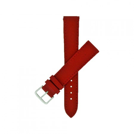 Red Colour TA Calf Grain Leather Watch Strap 10mm to 24mm With FREE Fitting Pins