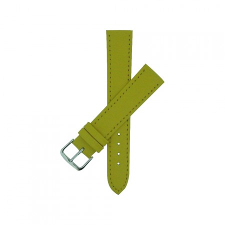 Yellow TA Calf Grain Leather Watch Strap 10mm to 22mm With FREE Fitting Pins