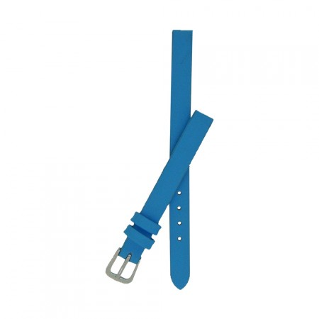 Sky Blue Calf Grain Leather Watch Strap With FREE Fitting Pins 6mm and 8mm