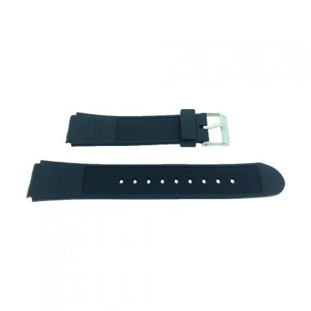 Black Casio Type Sports Resin Watch Strap18mm/20mm/22mm