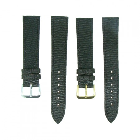 Brown TA Lizard Grain Leather Watch Strap 10mm to 20mm With FREE Fitting Pins