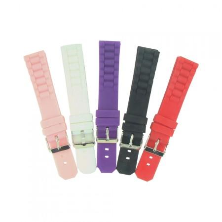20mm TA Colour Silicone Rubber Watch Strap