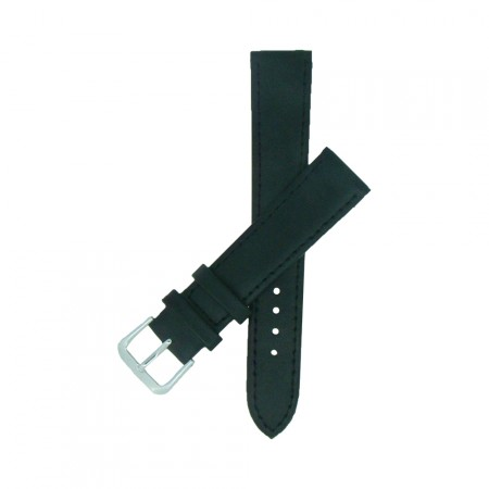 Black TA Extra Long Leather Watch Strap 10mm to 24mm With FREE Fitting Pins