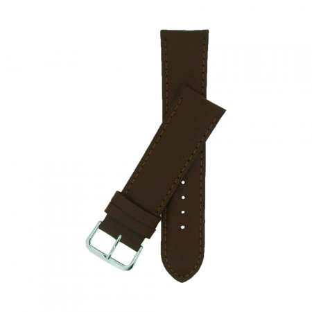 Extra Wide Brown Padded Leather Watch Strap 20mm - 30mm  & FREE Fitting Pins