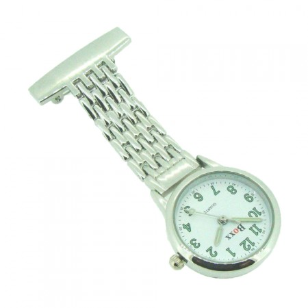 Brand New Silver Tone Nurse Fob watch by BOXX