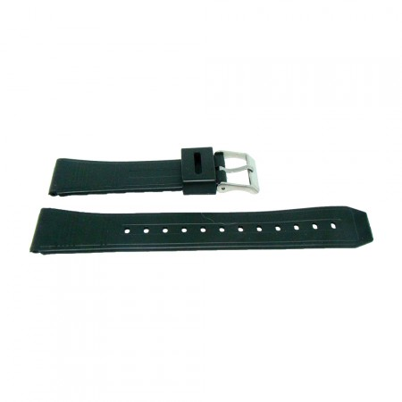 Black TA Style Sports Resin Watch Strap 18mm, 20mm and 22mm