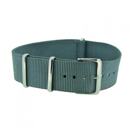 Grey Nylon 1pc Military Army Watch Strap 18mm 20mm 22mm 24mm