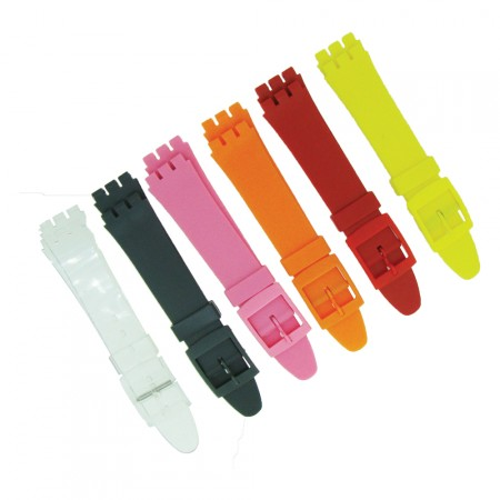 Resin 17mm Swatch Watch Strap Replacement 6 Colours And Free Fitting Pins