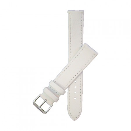 White TA Extra Long Leather Watch Strap 10mm to 22mm With FREE Fitting Pins