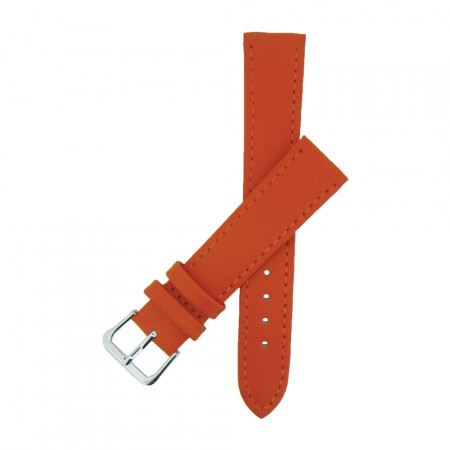Orange TA Calf Grain Leather Watch Strap 10mm to 22mm With FREE Fitting Pins