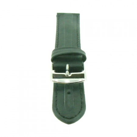 Genuine Black Quality Leather Padded Watch Strap 18mm 20mm 22mm