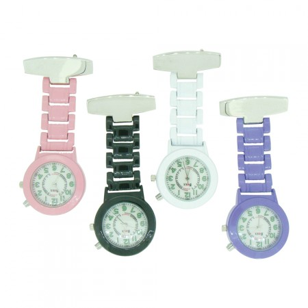 Brand New Nite Glo Metal Colour Nurse Fob Watch by BOXX