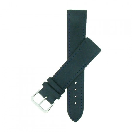 Blue TA Extra Long Leather Watch Strap 12mm to 22mm With FREE Fitting Pins