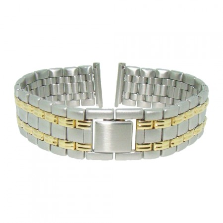 20mm Stainless Steel Two Tone 2 Piece Metal Watch Strap