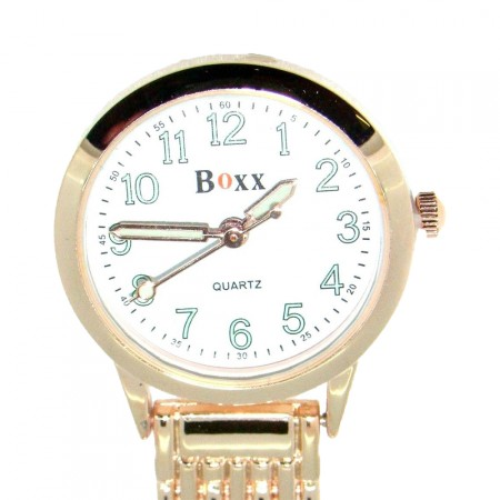 Quality Rose Gold White Dial Classic Nurse Fob Watch by BOXX