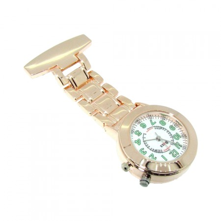 Rose Gold Nite Glo Light Up Nurse Fob Watch by BOXX
