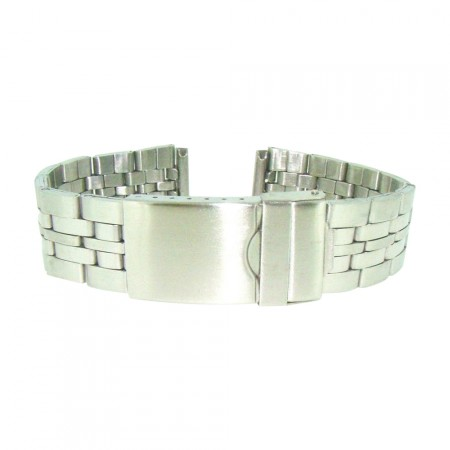 Quality 18mm/20mm Stainless Steel Silver Metal Bracelet Watch Strap