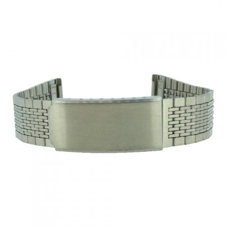 Slim 18mm/20mm Stainless Steel Silver Metal Bracelet Watch Strap