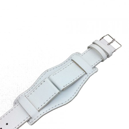 Genuine Leather White Colour Military Cuff Watch Strap 18mm 20mm 22mm and 24mm