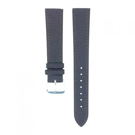 Dark Brown TA Extra Long Leather Watch Strap 10mm to 22mm With FREE Fitting Pins