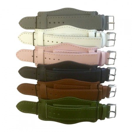 6 x Wholesale Job Lot Military Cuff Leather Watch Straps 18mm to 22mm