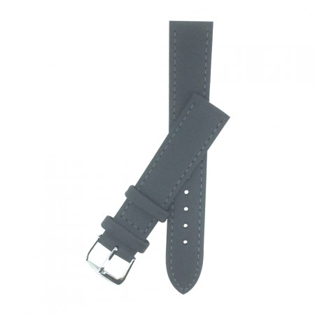 Grey Calf Grain Leather Watch Strap 10mm to 22mm With FREE Fitting Pins