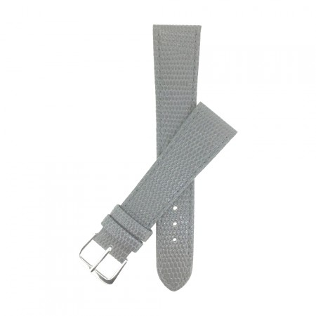 Grey Lizard Grain Leather Watch Strap 12mm & 20mm With FREE Fitting Pins